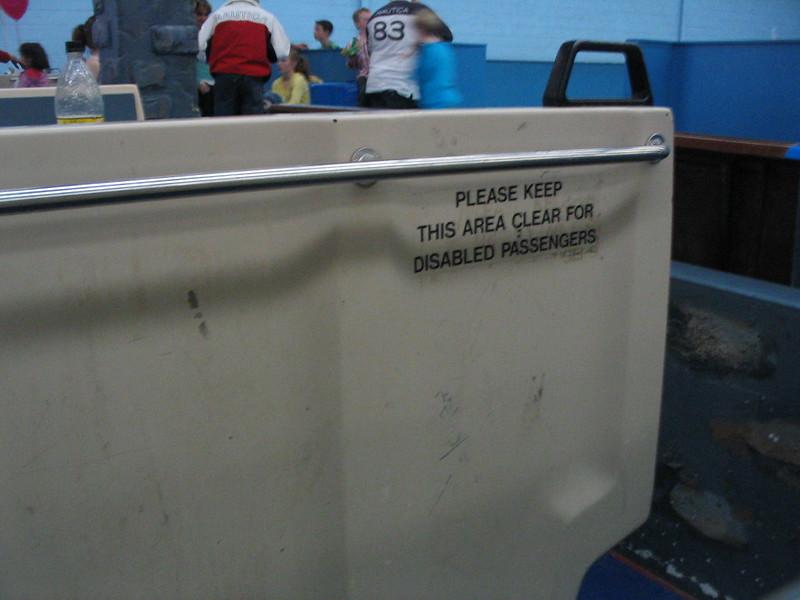 Ex-train seat at Skateworld in Mordialloc