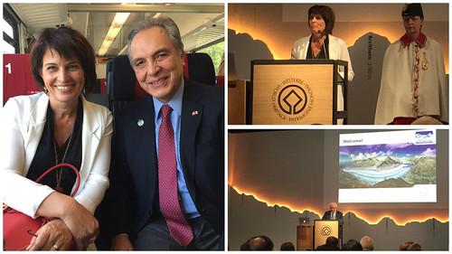 Encuentro con la Presidenta de Suiza en viaje oficial del Cuerpo Diplomático