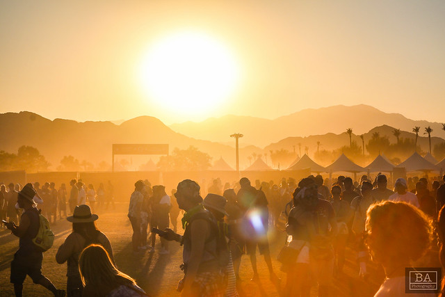 Sunset over Coachella