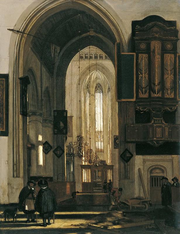 Emanuel de Witte - Interior de una Iglesia gótica