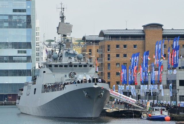 INS Tarkash F50 (40) @ West India Dock 07-05-17