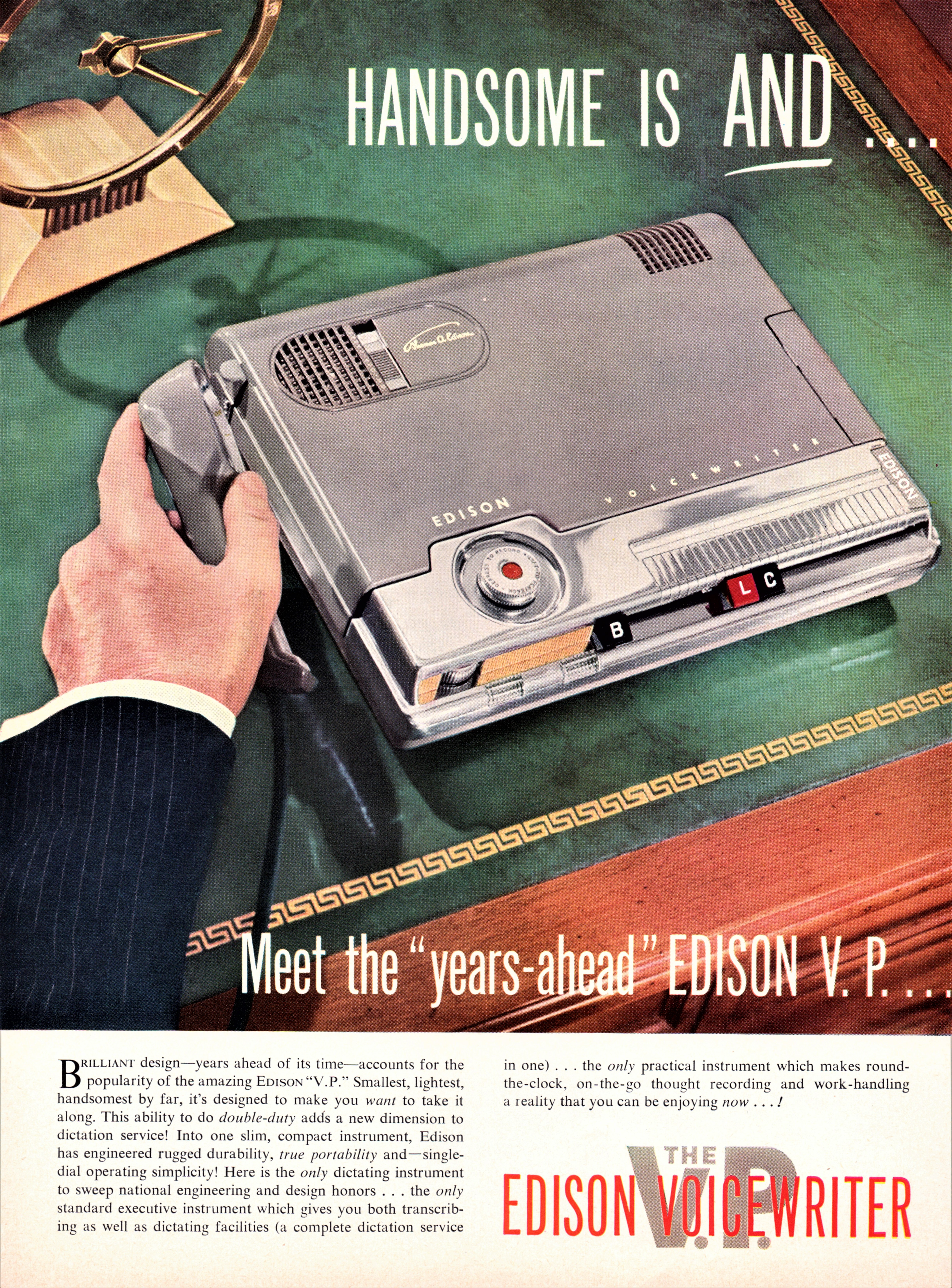 Edison Voicewriter - published in Business Week - March 20, 1954