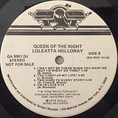 LOLEATTA HOLLOWAY:QUEEN OF THE NIGHT(LABEL SIDE-B)
