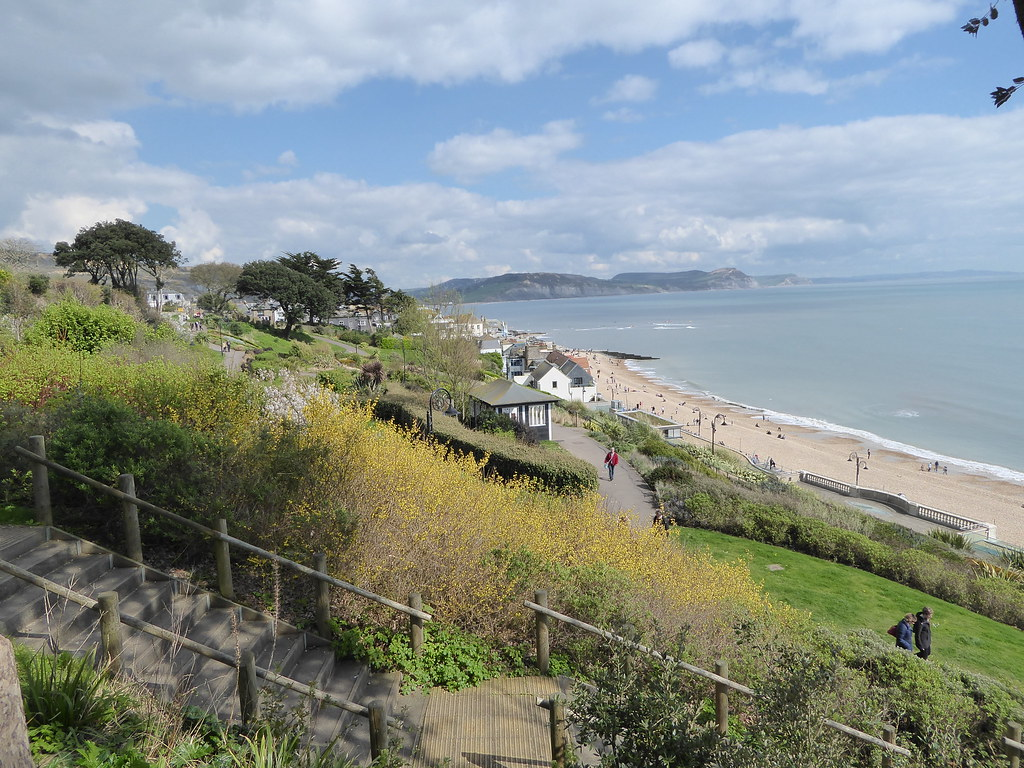 Lyme Regis Gardens and west Dorset coastline