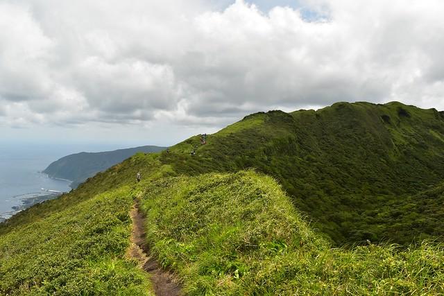 八丈富士の稜線
