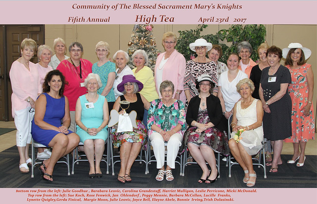 Mary's Knights Afternoon Tea 2017