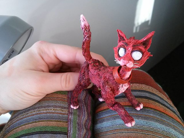 The Red Cat Puppet