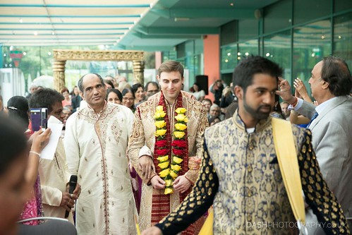 Groom entrance at Hindu ceremony