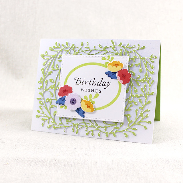 Floral Birthday Wishes Card