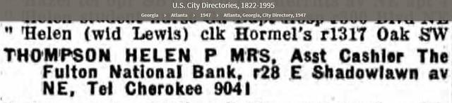 Atlanta City Directory 1947