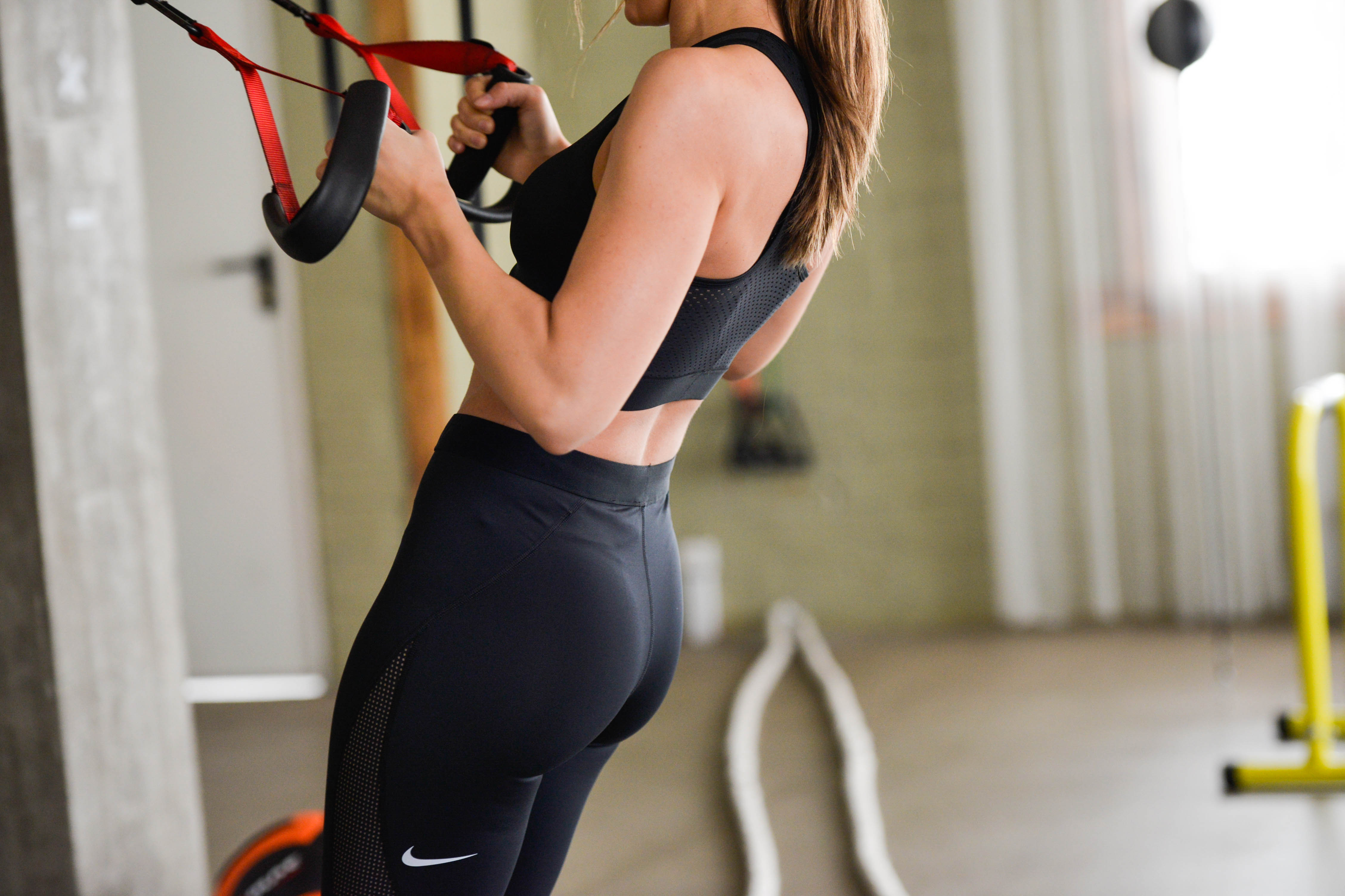 Training routine with Nike