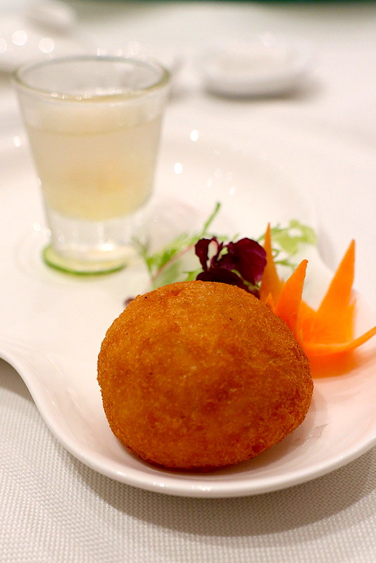 Golden Mantou stuffed with  Chilli Crab Meat