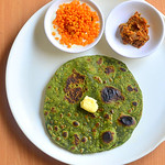 Palak Chapati / spinach chapathi recipe
