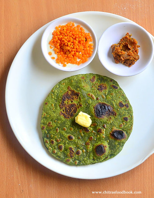 Spinach chapathi