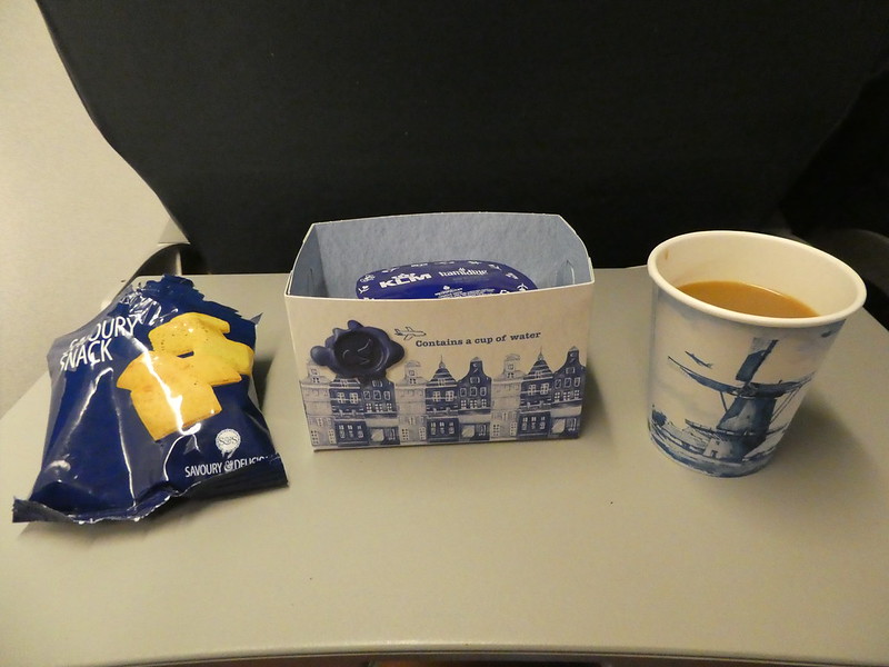 Snack served on the KLM City Hopper flight