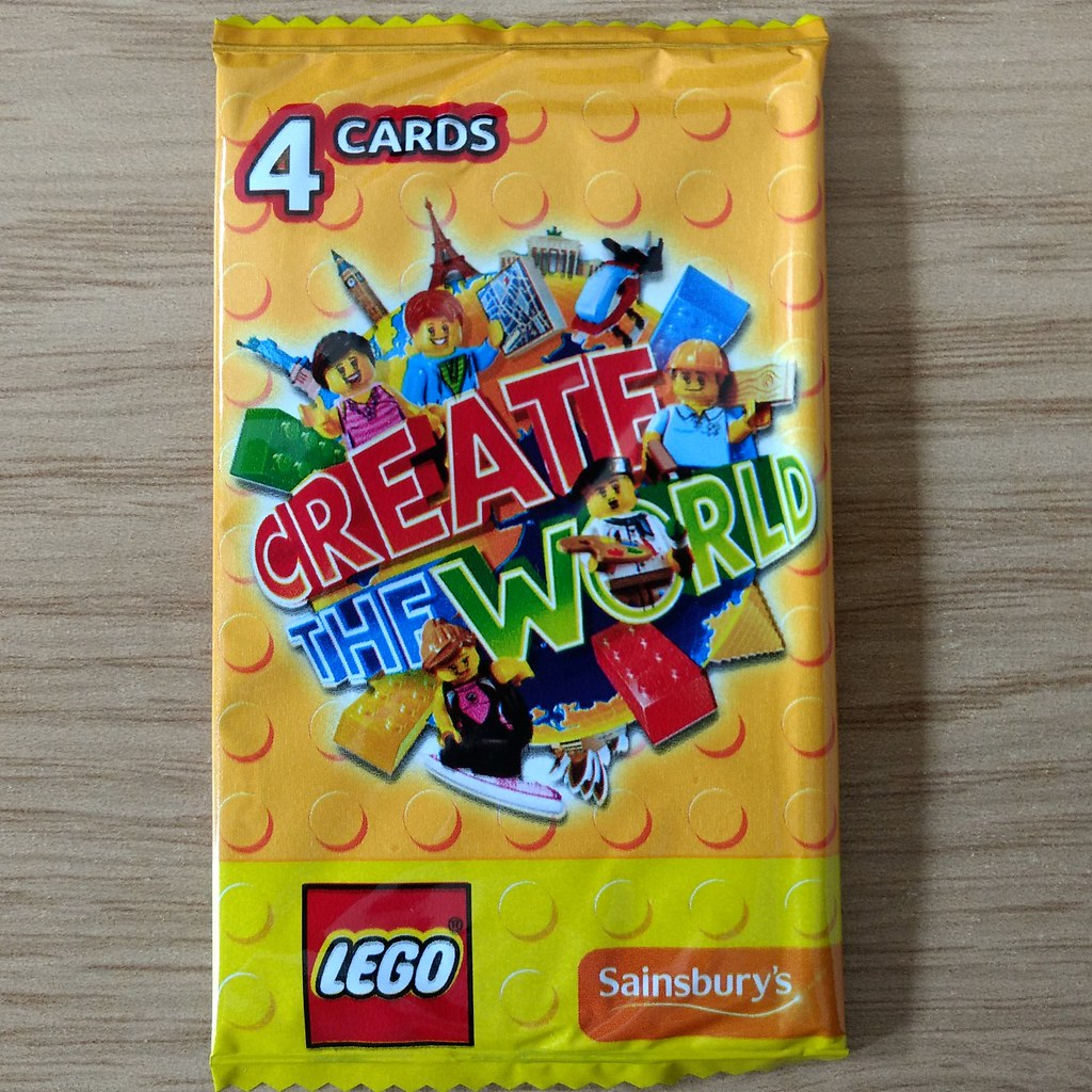 5 Packs LEGO 2017 Edition Yellow Packets Create the World Trading Cards Rare