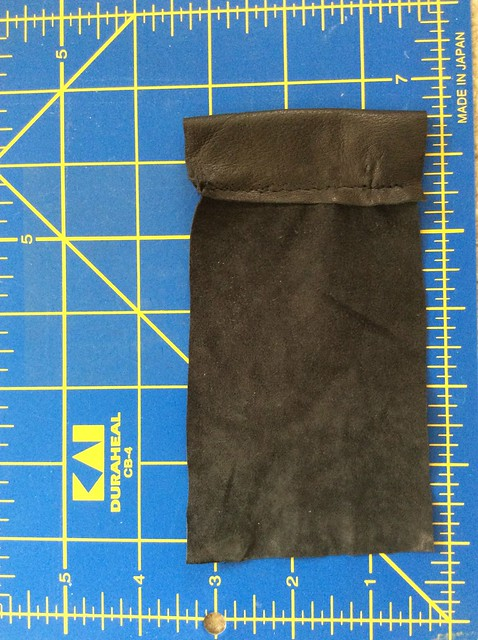 First cord sleeve done on leather