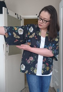 Kimono Jacket (On Me) 2 - Sleeve piecing