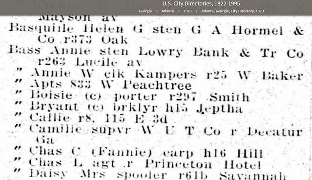 Atlanta City Directory 1923