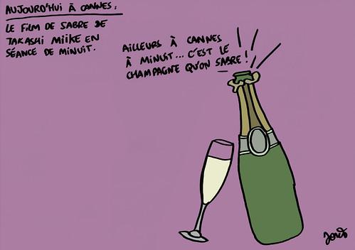 15_CANNES_Takashi Miike Champagne