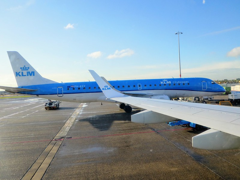 KLM Cityhopper Embraer 190 between Leeds Bradford and Amsterdam