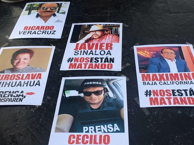 Periodistas tapatíos exigen justicia por el asesinato de Javier Valdez