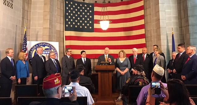 Gov. Ricketts Signs Major Veterans' Legislative Package
