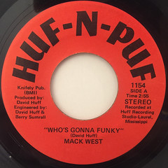 MACK WEST:WHO'S GONNA FUNKY(LABEL SIDE-A)