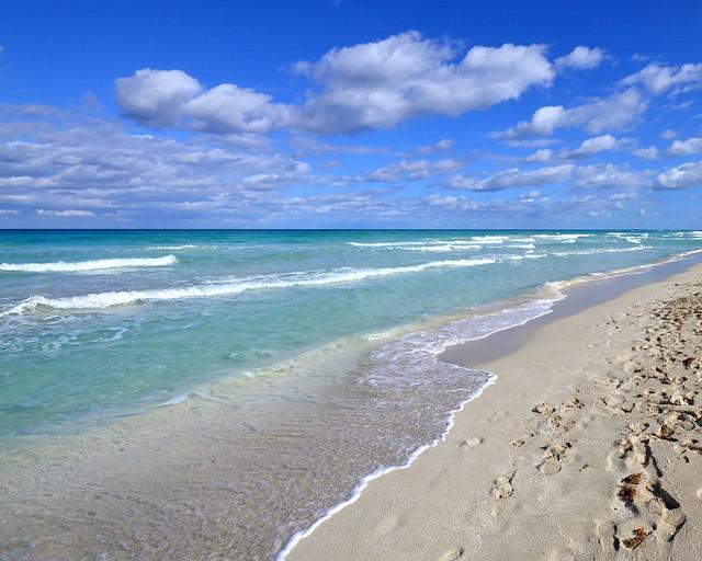 Playa de Varadero en Cuba, en un día soleado espectacular