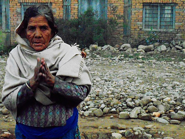 Nepali Elderly Village Woman
