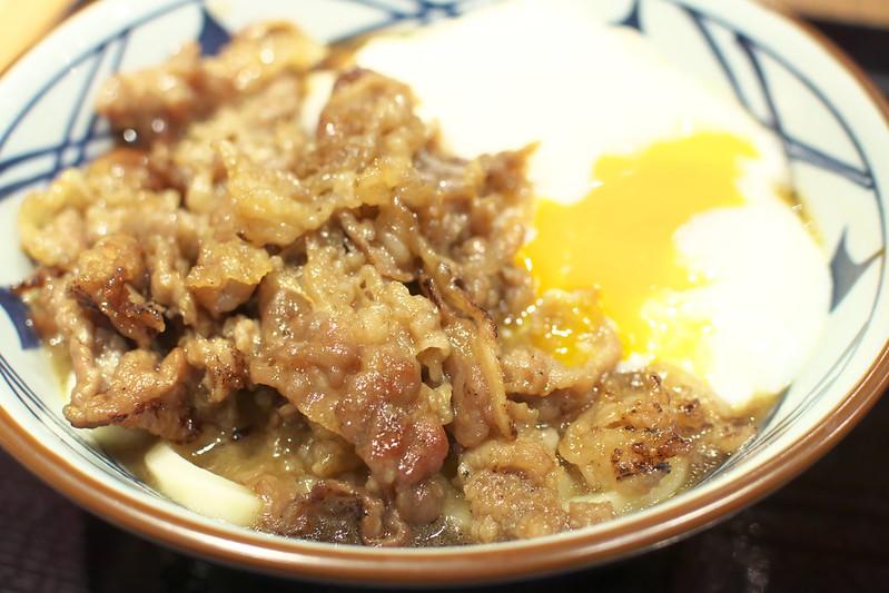 丸亀製麺の牛とろ玉うどん