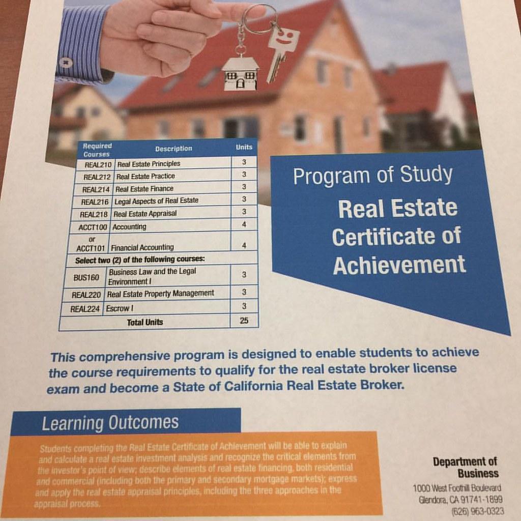 Citrus College Real Estate Department Is Now Offering Cert Flickr
