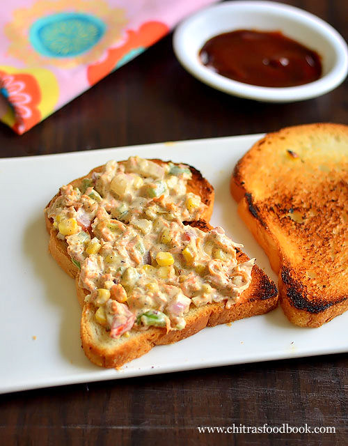 Veg Mayonnaise Sandwich Recipe How To Make Mayo Sandwich Recipe Indian Chitra S Food Book