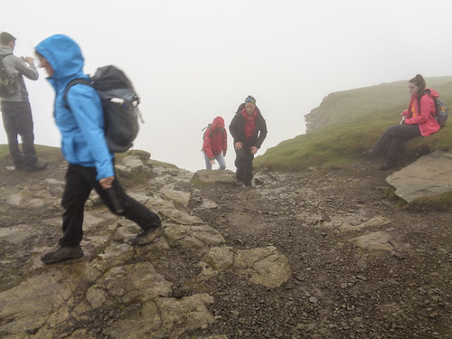 Reaching the summit after a steep climb