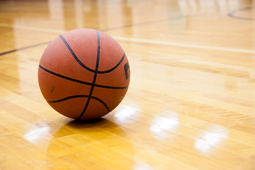 basketball on a court in a gym | by franchiseopportunitiesphotos