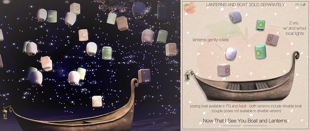 .peaches. Now That I See You Boat and Lanterns - COMING TO ENCHANTMENT 5.13!!