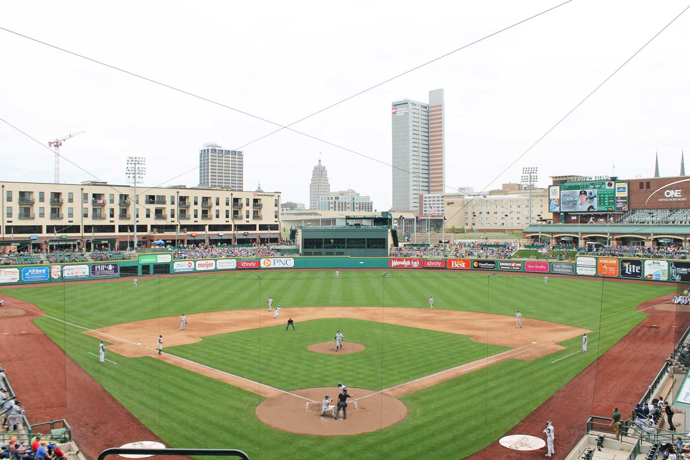 TinCaps Baseball at Parkview Field - Fort Wayne, Indiana (top rated minor league ballpark and amazing food selection!) // The Weekend Getaway You've Overlooked: Visit Fort Wayne, Indiana [via Wading in Big Shoes] // Located equidistantly from Chicago, Cincinnati, and Detroit, Fort Wayne, Indiana is a fun midwest destination that captures a perfect blend of city, nature, and local flavors! See what I experienced on my trip to Fort Wayne and learn what makes Indiana's second-largest city the perfect spot for a weekend getaway.