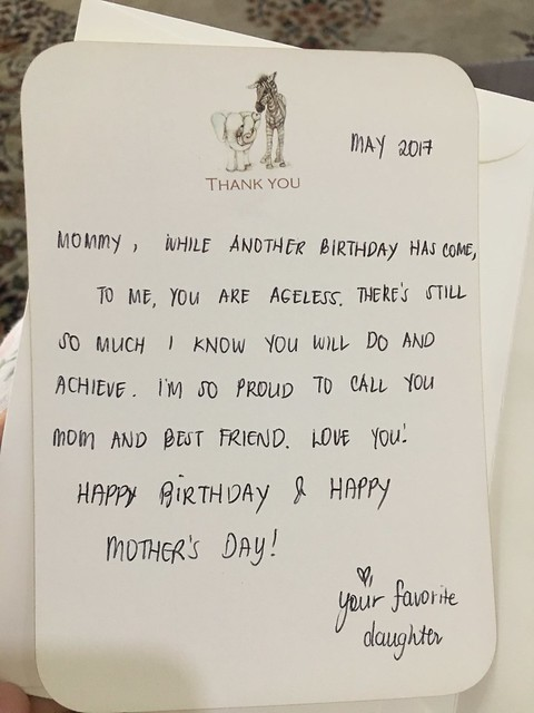 gift card from my daughter May 11 2017