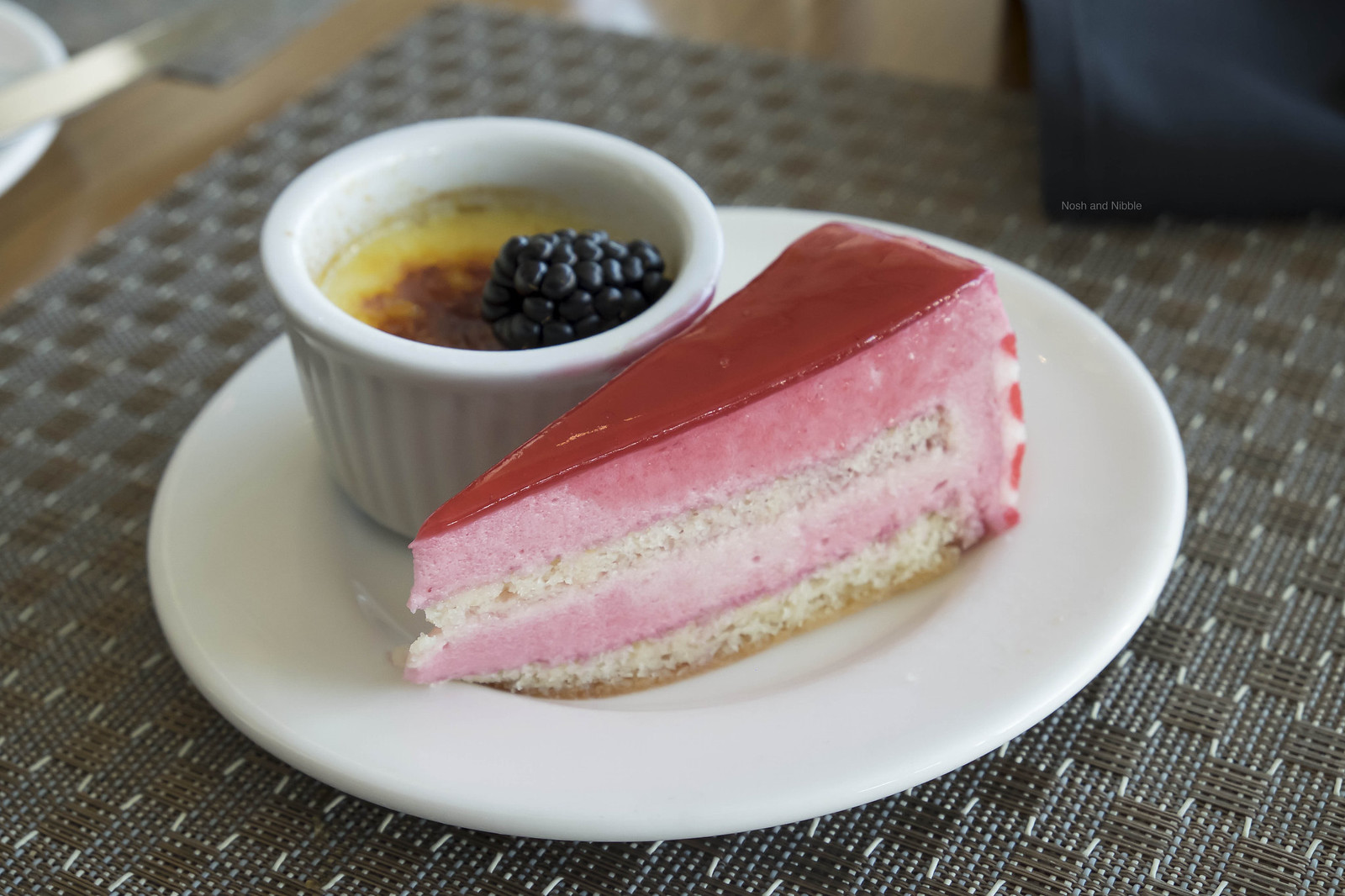 Creme Brulee and Strawberry Mousse Cake