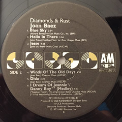 JOAN BAEZ:DIAMOND & RUST(LABEL SIDE-B)