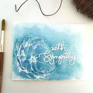 Watercolor sympathy card | by Kimberly Toney