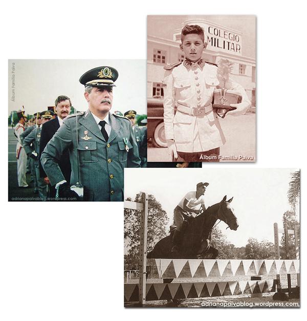 Papai: Condecorado em 1995, Colégio Militar, Prova de salto na AMAN