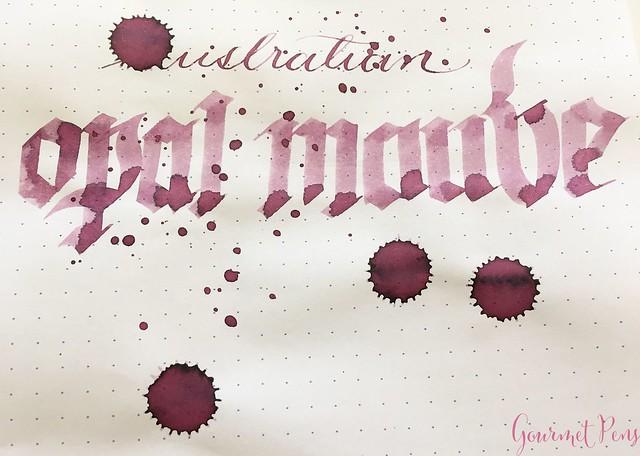 Ink Shot Review @RobertOsterInk Australian Opal Mauve @NoteMakerTweets 8