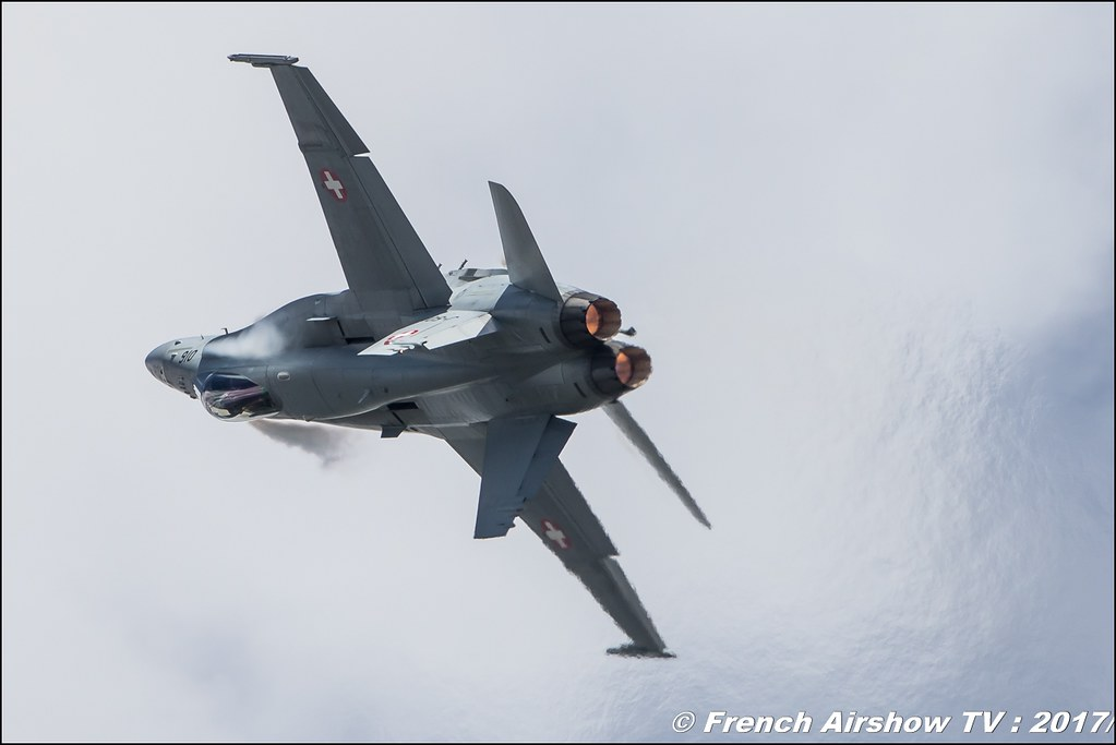 F/A-18 Hornet Solo Display CH - Schweizer Armee , SWISS HORNET DISPLAY TEAM 2017 , Meeting de l'Air BA-106 Bordeaux Merignac , meeting aerien 2017 , Airshow