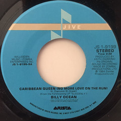 BILLY OCEAN:CARIBBEAN QUEEN(LABEL SIDE-A)