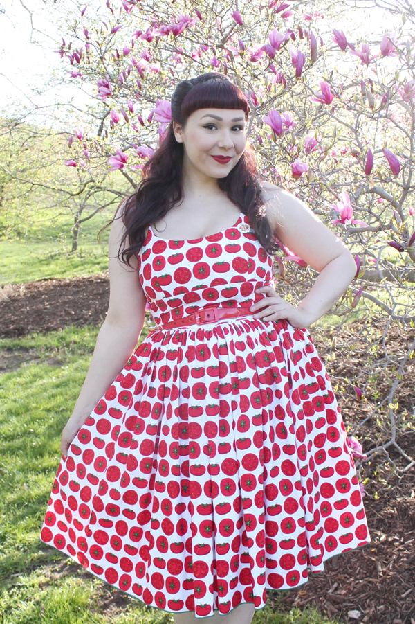 tomato print dress