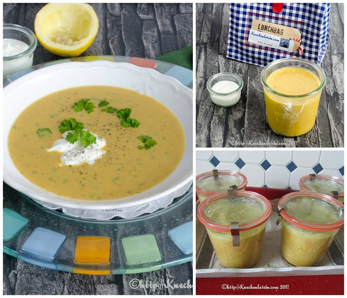 Curried sweet potato soup Collage