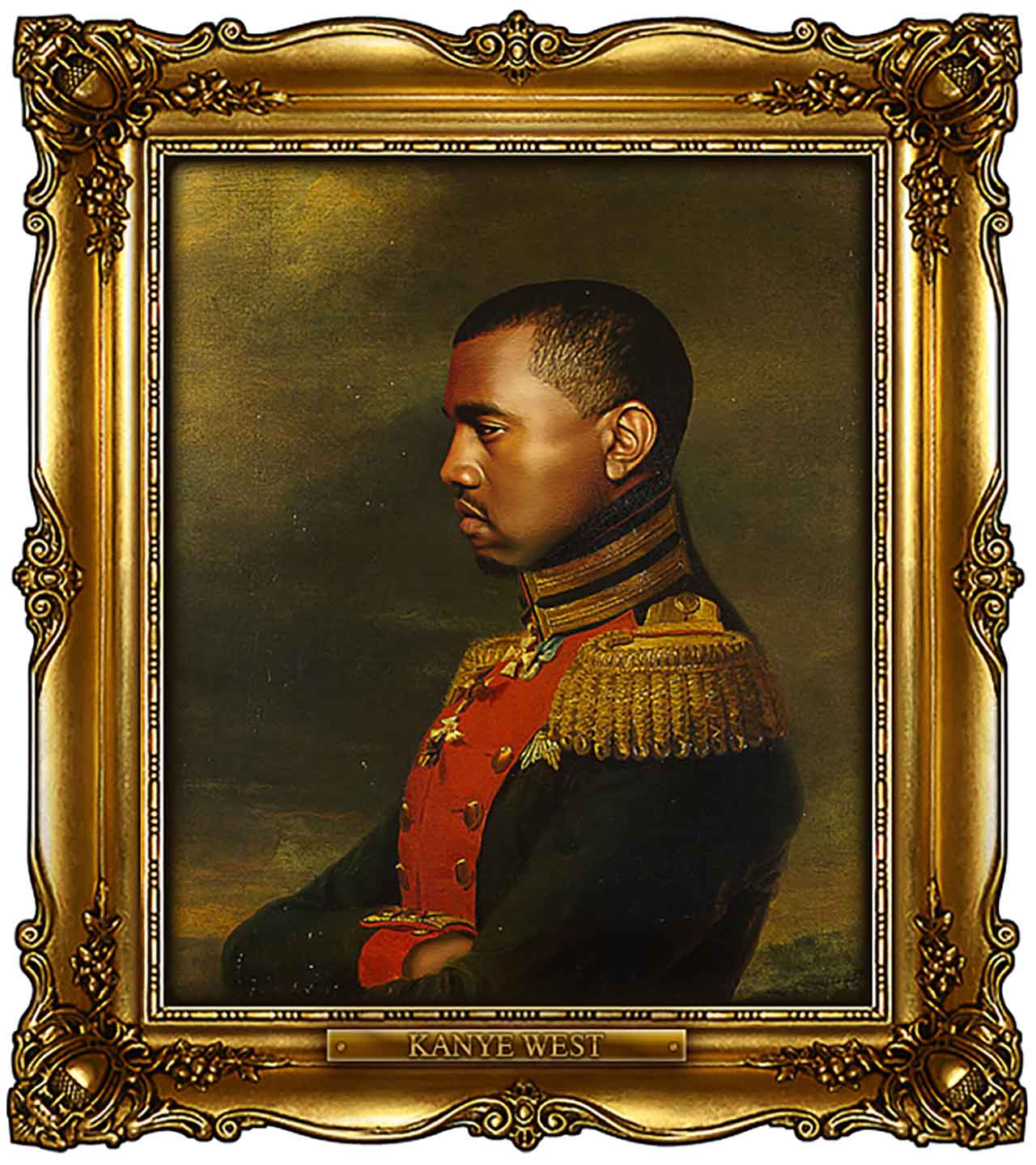 Artist Turns Famous Actors Into Russian Generals - Kanye West