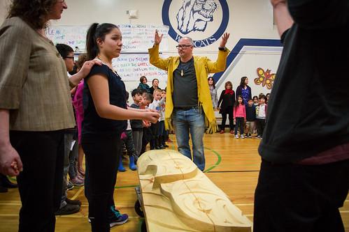 Van Horne Elementary post unveiling