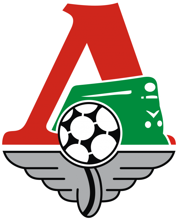 The emblem of Lokomotiv Moscow football club